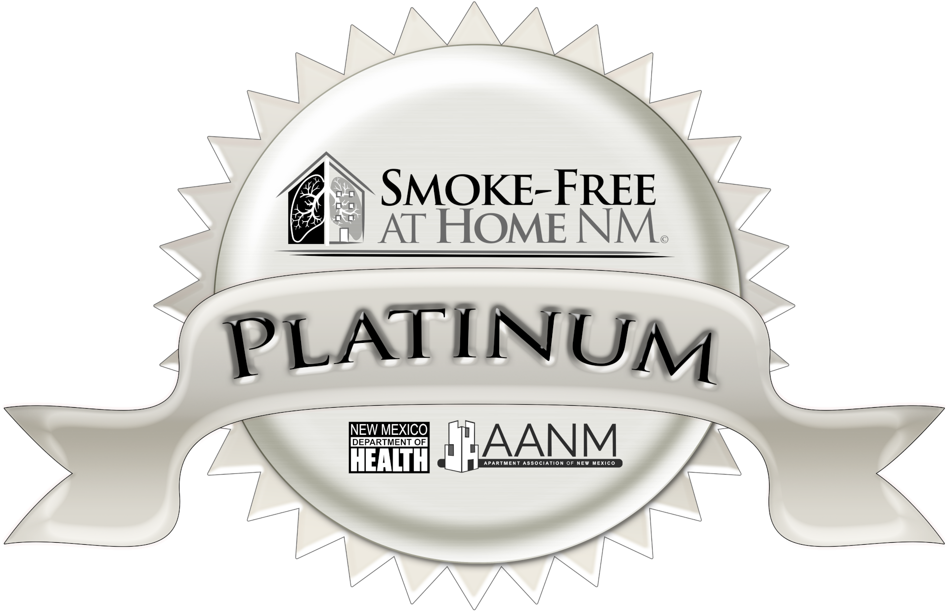 Platinum: A new Property or Development that does not allow any smoking, including electronic cigarettes, on any part of the property at any time.